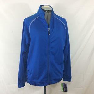 NWT Holloway cobalt blue zip up athletic jacket-M